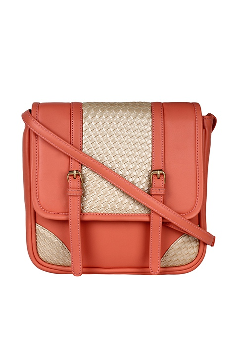Cross Body Satchel - Coral