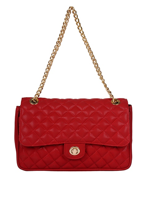 Quilted Sling Bag - Red