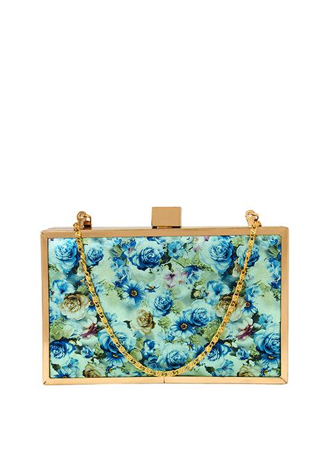 Floral Fame Boxy Clutch