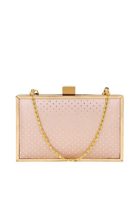 Rose Gold Boxy Clutch