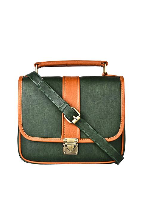 Buckled Cross Body Bag - Green