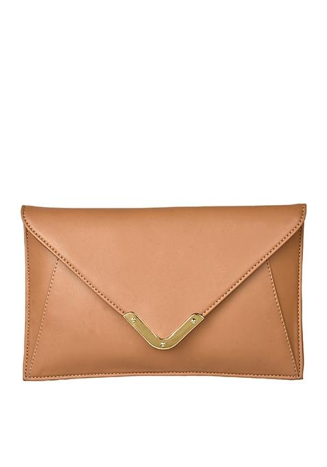 Envelope Clutch - Beige