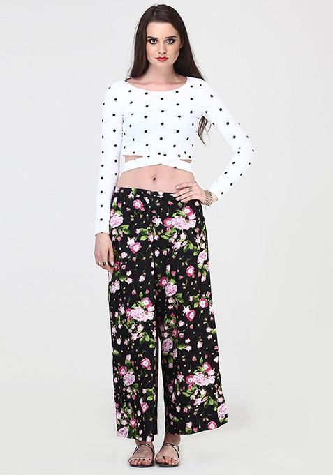 Bold Flower Wide Legged Pants