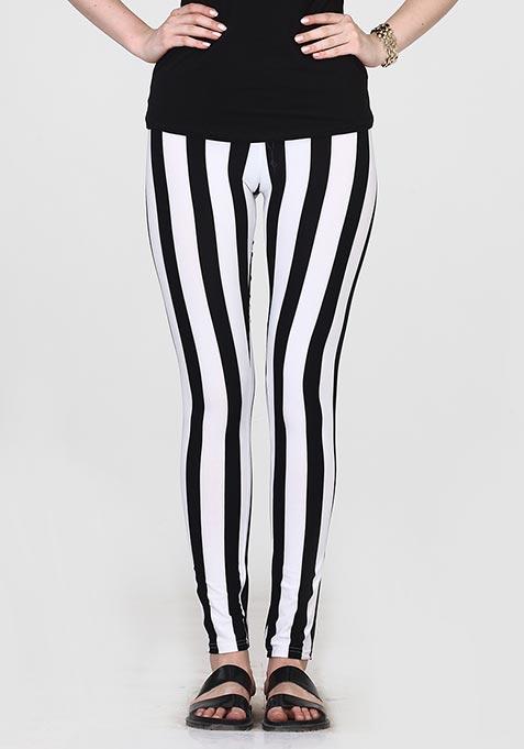 Jail Stripe Tights