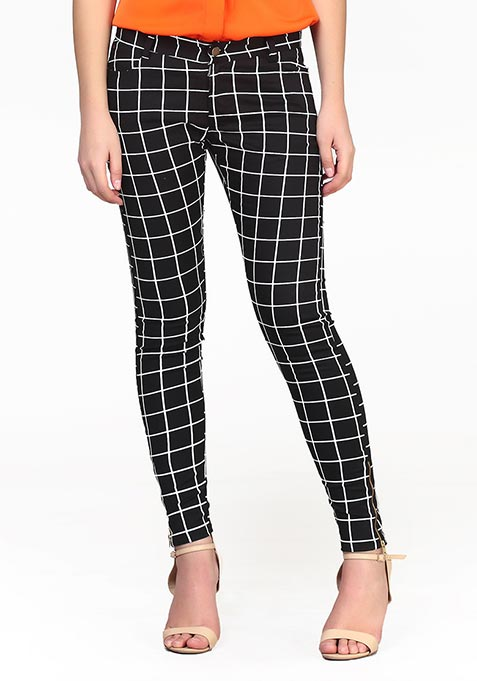 Grid This Pants - Black