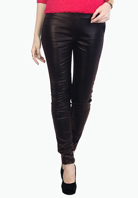 Luxe Leather Black Jeggings