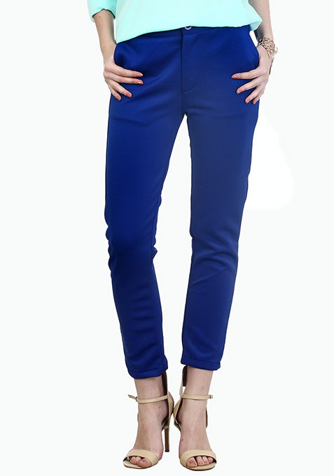 Cobalt Blue Scuba Trousers