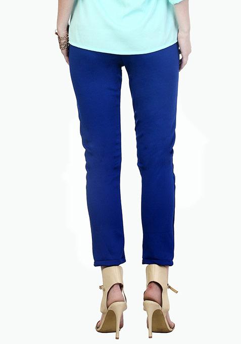Cobalt Blue Scuba Trousers