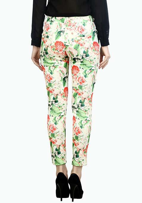 Floral Days Scuba Trousers