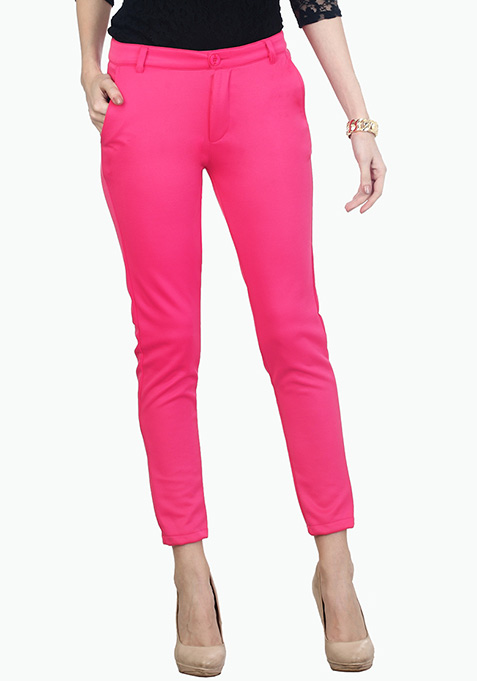 Hot Pink Scuba Trousers