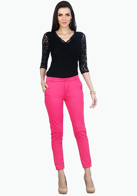 Hot Pink Scuba Trousers