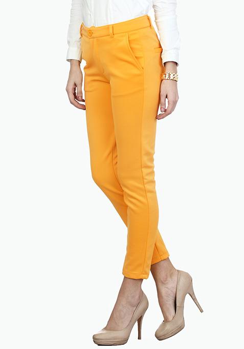 Sunshine Yellow Scuba Trousers
