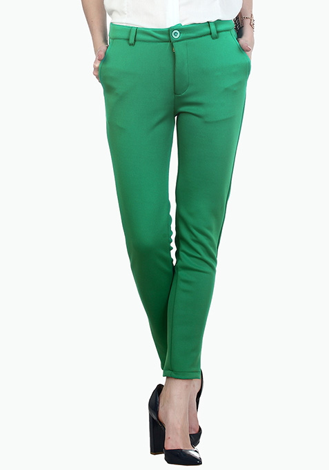 Parrot Green Scuba Trousers
