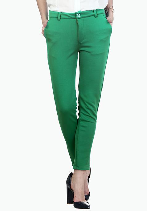 Parrot Green Scuba Trousers