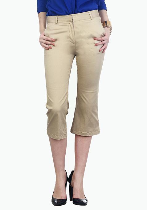 Cityslicker Culotte Trousers - Beige