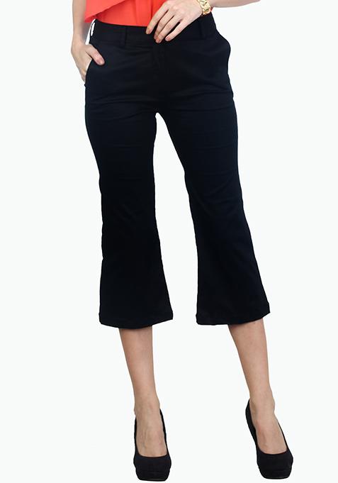 Cityslicker Culotte Trousers - Black