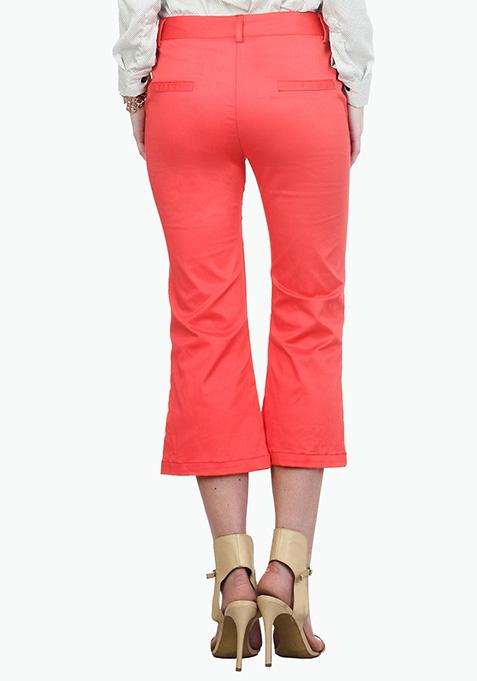 Cityslicker Culotte Trousers - Coral