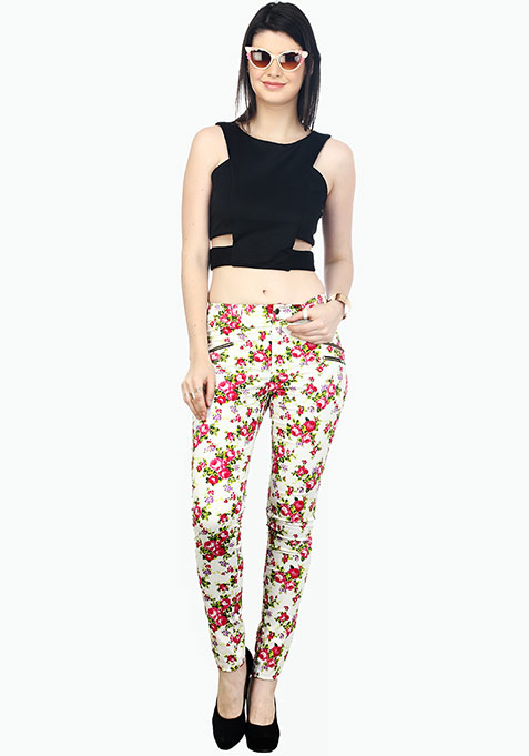 Summer Spell Floral Trousers - Pink