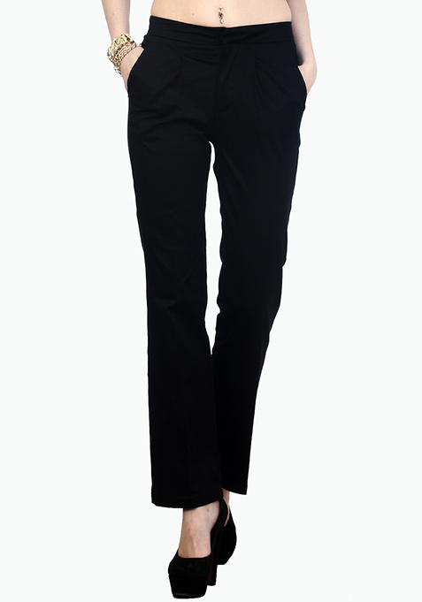 Urbane Wide Leg Pants - Black