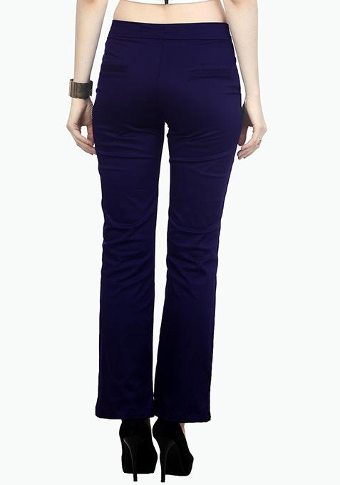 Urbane Wide Leg Pants - Blue