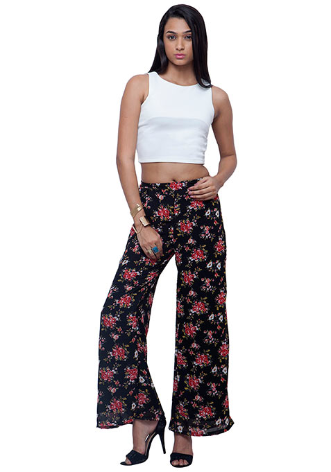 Floral Flair Georgette Palazzo