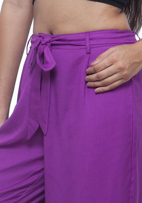Purple Play Viscose Palazzo