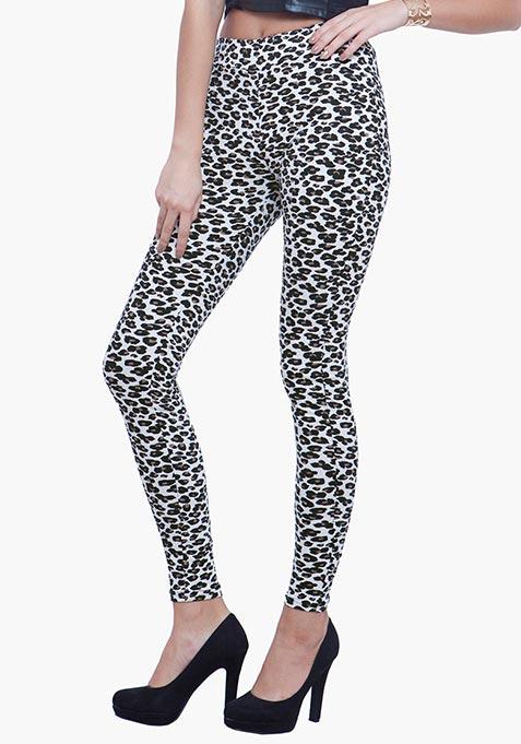 Jersey Leggings - Leopard