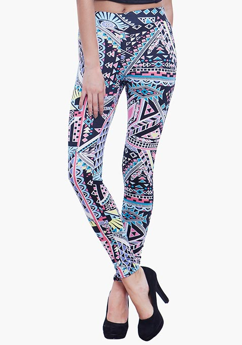 Jersey Leggings - Tribal
