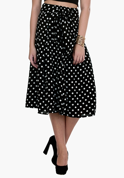 Contemporary Polka Dot Culottes