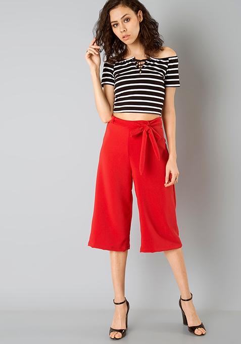 Contempory Red Culottes