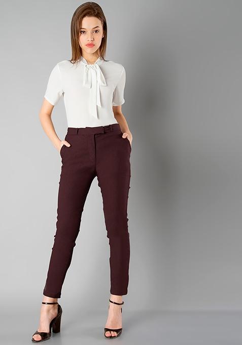 CLASSICS Formal Trousers - Oxblood