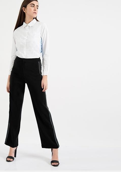 AlliaForFabAlley Side Stripe Pants - Grey