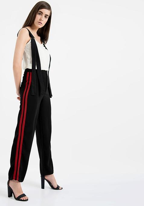 AlliaForFabAlley Side Stripe Pants - Red