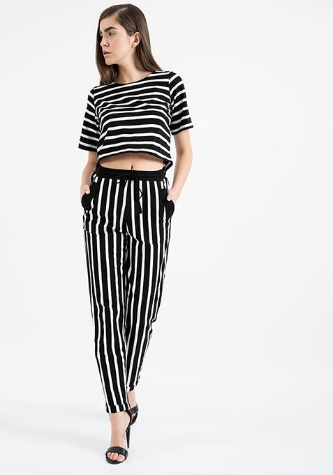 AlliaForFabAlley Striped Jersey Pants
