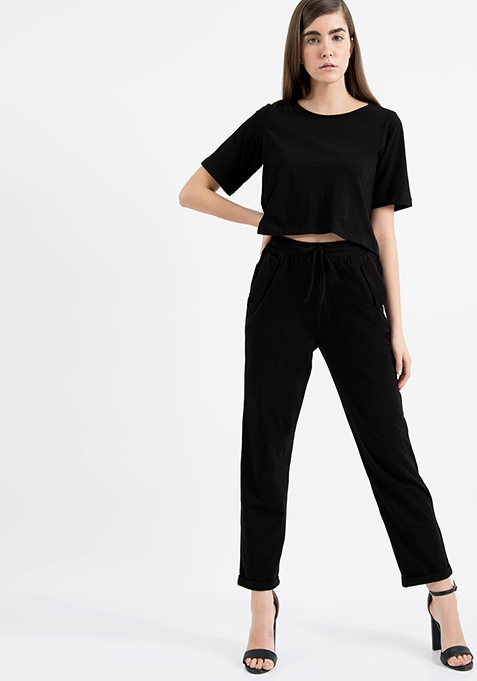 AlliaForFabAlley Black Jersey Pants