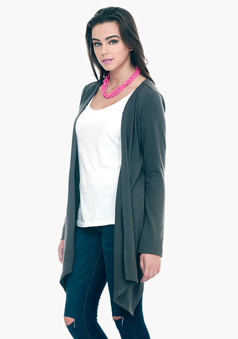 Waterfall Cardigan - Grey