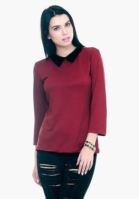 Peter Pan Sweater - Oxblood