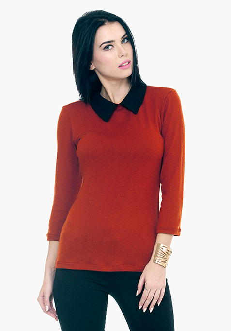 Peter Pan Sweater - Orange