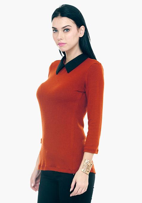 Peter Pan Sweater - Orange
