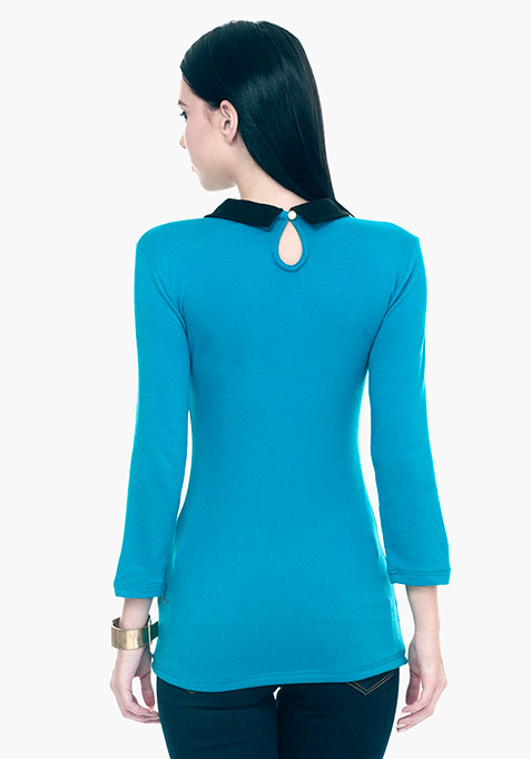Peter Pan Sweater - Blue