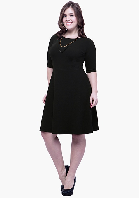CURVE Go Glam Skater Dress - Black