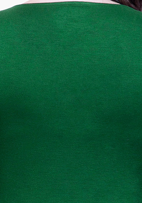 CURVE Basic Grace Bodycon Dress – Green