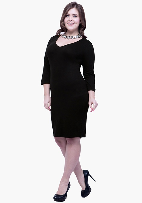 CURVE Basic Grace Bodycon Dress - Black