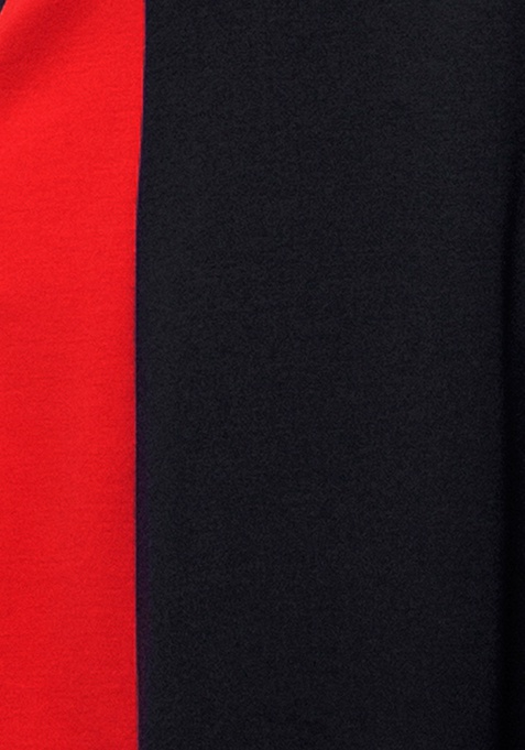 CURVE Red Panel Skater Dress