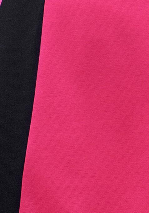 CURVE Pink Panel Skater Dress