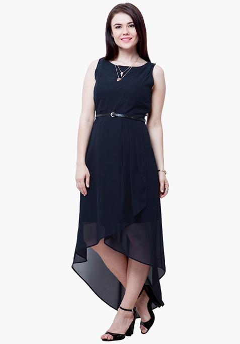 CURVE HiLo Dress - Navy