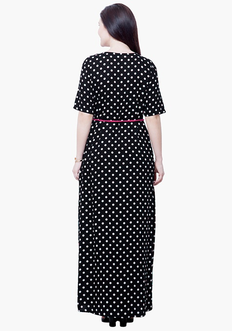 CURVE Maxi Shirt Dress - Polka