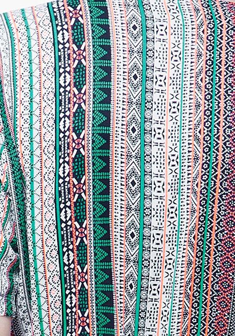 CURVE Maxi Shirt Dress - Aztec