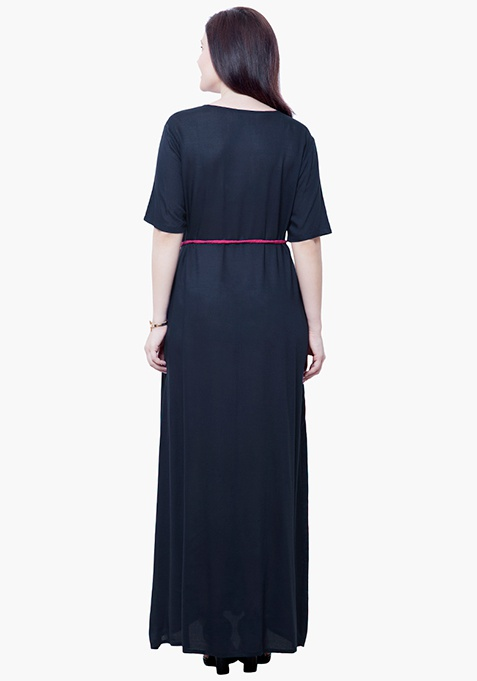 CURVE Maxi Shirt Dress - Navy