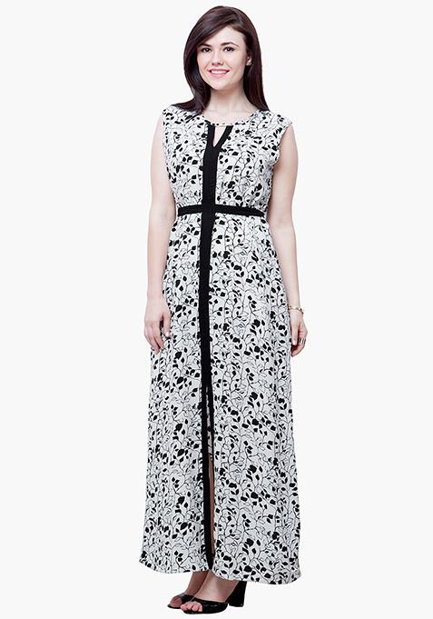 CURVE Autumn Slash Maxi Dress